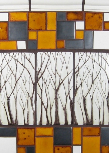 "<h5>Arbre</h5><p>""Arbre"" 4x8 Hand-painted trees with Crackle #50 background with Mosaic blend.</p>"