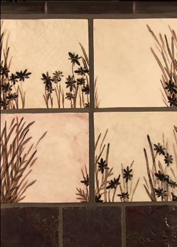 "<h5>Champs de Pavots</h5><p>""Champs de Pavots"" (Field of Poppies) 6x6 hand-painted decos in 6 unique designs.  Sepia Tone finish.</p>"