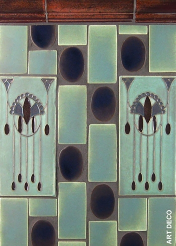 "<h5>Art Deco</h5><p>""Art Deco"" 4x8 relief decos in Socialite #180 and EspressO #65.</p>"