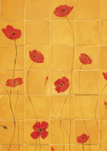 <h5>Poppy Mural</h5><p>Hand-painted poppy-themed mural.</p>