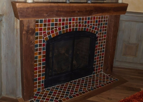 <h5>Multi-color Fireplace</h5><p>2x2 blend fireplace surround.</p>