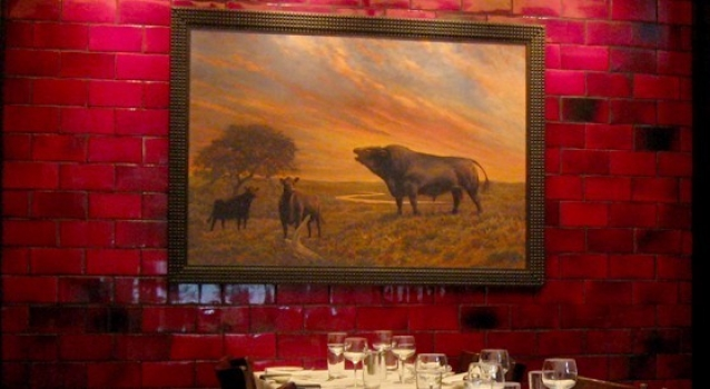 <h5>Manny&#039;s Steakhouse, Minneapolis</h5><p>4x8 field tile in Veruca Red 210.</p>